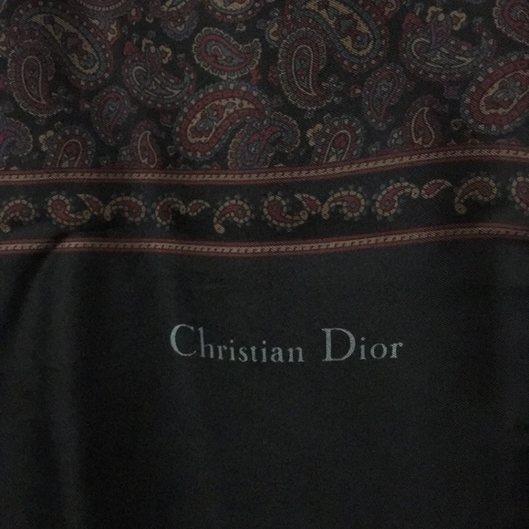 Dior Accessories - Men's Christian Dior 100% Silk/Wool Scarf